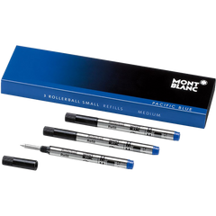Montblanc Mini Rollerball Refill - Pacific Blue - Medium (3 Per Pack)-Pen Boutique Ltd
