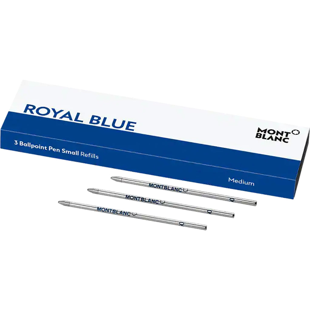Montblanc Ballpoint Refill - Royal Blue - Small (3 Per Pack)-Pen Boutique Ltd