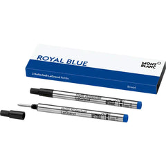 Montblanc LeGrand Rollerball Refill - Royal Blue (2 Per Pack)-Pen Boutique Ltd