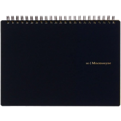 Maruman Mnemosyne Notebook - Black - Blank - A4-Pen Boutique Ltd