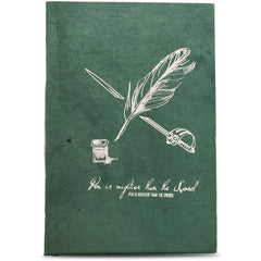 Monk Paper Lokta Quotation Journal - Green-Pen Boutique Ltd