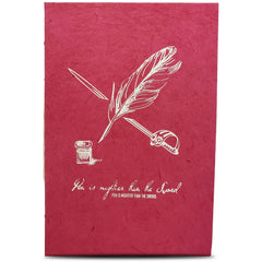 Monk Paper Lokta Quotation Journal - Hot Pink-Pen Boutique Ltd