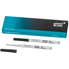 Montblanc Ballpoint Refill - Barbados Blue - Medium - 2 Pack