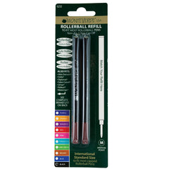 Monteverde Rollerball to fit most Capped Rollerball pens - Black 2/pack