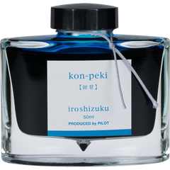 Pilot Iroshizuku Deep Cerulean Blue (Kon-peki) Fountain Pen Ink Bottle-Pen Boutique Ltd