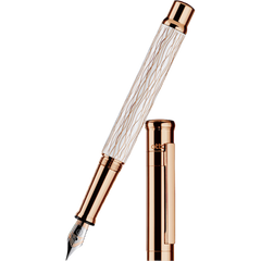 Otto Hutt Design 4 Fountain Pen - White Wave - Steel Nib-Pen Boutique Ltd