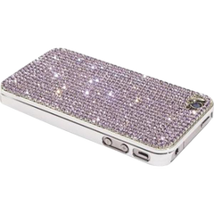 PBL iPhone 4 Case Made w/ Czech Crystals - Provence Lavender Crystals-Pen Boutique Ltd
