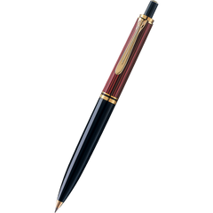 Pelikan Souveran Ballpoint Pen - K400 Red & Black Stripe-Pen Boutique Ltd