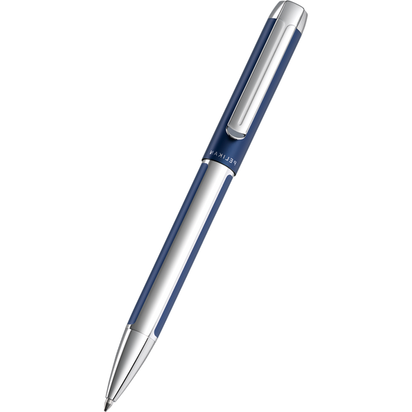 Pelikan Pura Ballpoint Pen - K40 Blue - Silver Trim-Pen Boutique Ltd