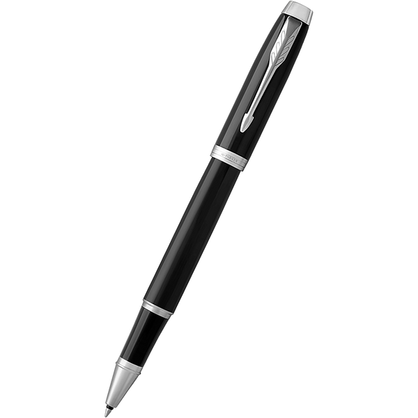 Parker IM Black Chrome Trim Rollerball Pen-Pen Boutique Ltd