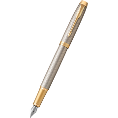Parker IM Premium Warm Silver with Gold Trim Fountain Pen-Pen Boutique Ltd
