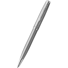 Parker Sonnet Ballpoint Pen - Stainless Steel - Chrome Trim-Pen Boutique Ltd
