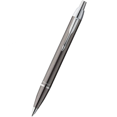 Parker IM Ballpoint Pen - Gunmetal - Chrome Trim-Pen Boutique Ltd