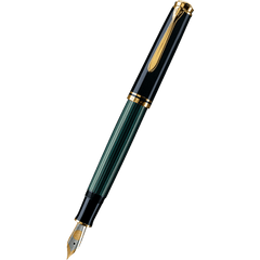 Pelikan Souveran Fountain Pen - M600 Black/Green-Pen Boutique Ltd