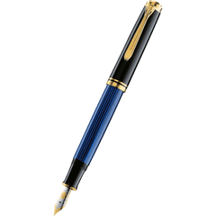 Pelikan Souveran Fountain Pen - M600 Black/Blue-Pen Boutique Ltd