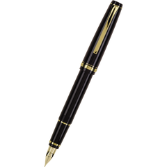 Pilot Falcon Fountain Pen - Black - Gold Trim-Pen Boutique Ltd