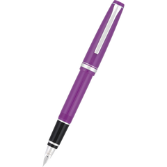 Pilot Falcon Fountain Pen - Plum Purple - Rhodium Trim-Pen Boutique Ltd