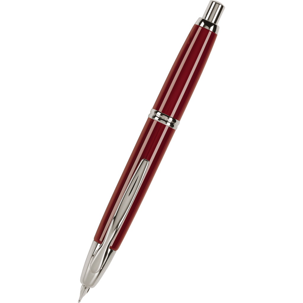 Pilot Vanishing Point Fountain Pen - Red - Rhodium Trim-Pen Boutique Ltd