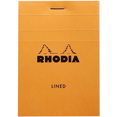 Rhodia Notepads Lined Orange 80S 3X4-Pen Boutique Ltd