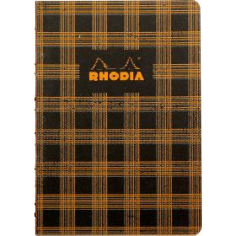 "Rhodia Heritage Book Block A5 Notebook 6"" x 8.25"" - Tartan Lined"