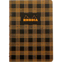 "Rhodia Heritage Book Block Notebook - Tartan Graph ( A5 - 6"" x 8.24"")"