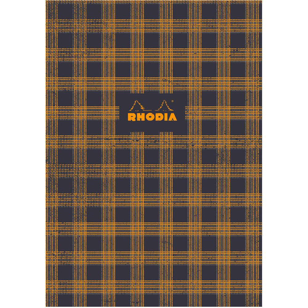 "Rhodia Heritage Book Block Notebook 9.75"" x 7.5"" - Tartan Lined - Limited edition"
