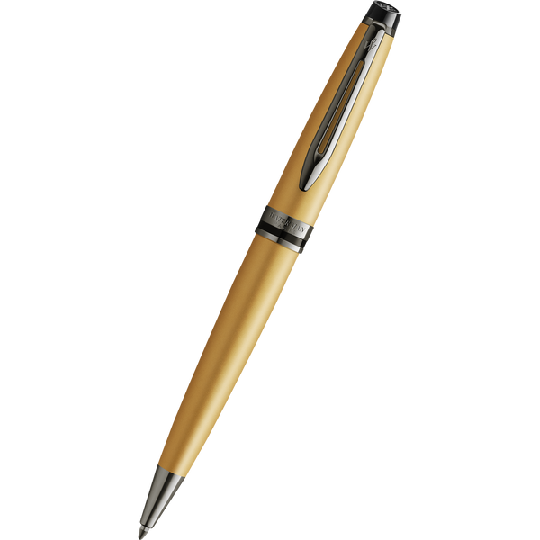 Waterman Expert3 Ballpoint Pen - Gold - Ruthenium Trim (Special Edition)-Pen Boutique Ltd