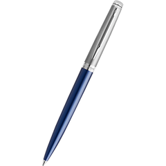 Waterman Hemisphere21 Ballpoint Pen - Matte Blue - Chrome Trim-Pen Boutique Ltd