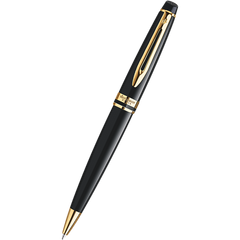 Waterman Expert Ballpoint Pen - Gold Trim - Black-Pen Boutique Ltd