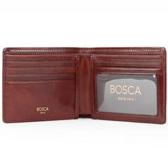 Bosca Old Leather Dark Brown Executive ID Wallet