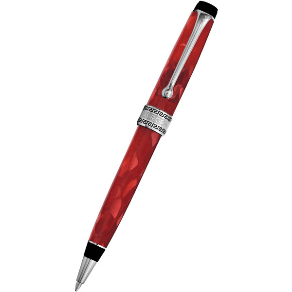 Aurora Optima Auroloide Ballpoint Pen - Rossa - Chrome Trim