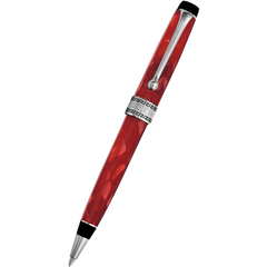 Aurora Optima Auroloide Ballpoint Pen - Rossa - Chrome Trim-Pen Boutique Ltd