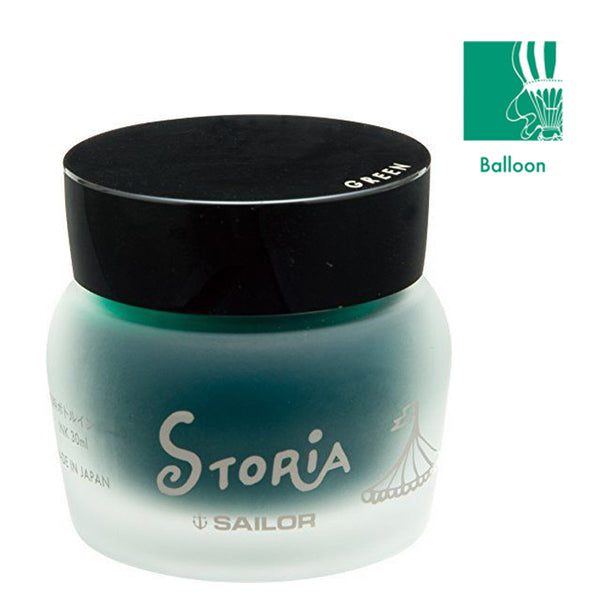 Sailor Storia Pigment Based 30ml Ink Bottle  - Balloon (Green)