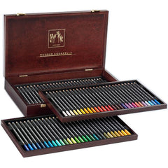Caran d'Ache Wooden Box Museum Aquarelle - 76 Pencils Set