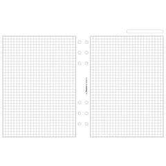 Filofax A5 Quadrille Notepaper White  25 sheets/pack