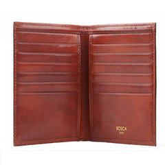 Bosca Old Leather 12 Pocket Credit Wallet - Cognac