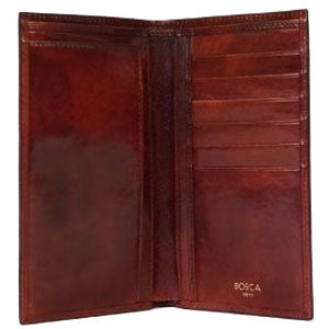 Bosca Old Leather 12 Pocket Credit Wallet - Dark Brown