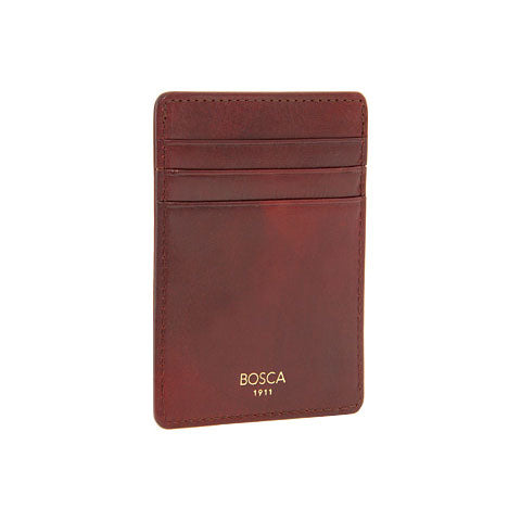 Bosca Deluxe Front Pocket Wallet Old Leather - Cognac