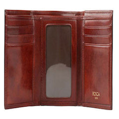 Bosca Old Leather Double I.D. Trifold Wallet - Brown