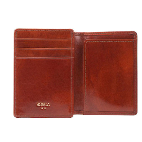 Bosca Front Pocket I.D. Wallet - Old Leather-Cognac