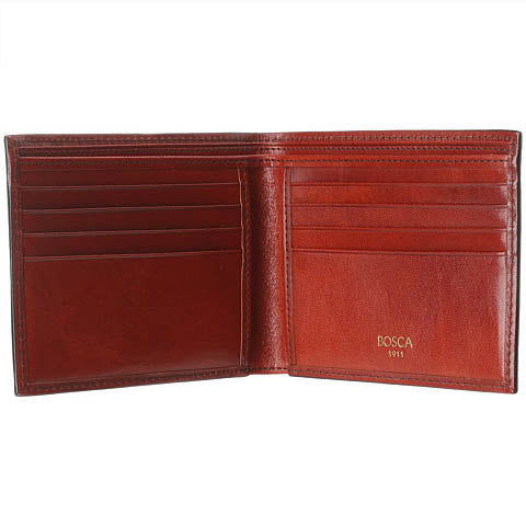 Bosca 8 Pocket Deluxe Executive Wallet Old Leather - Cognac