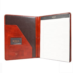 Bosca Old Leather Pad Portfolio - Cognac