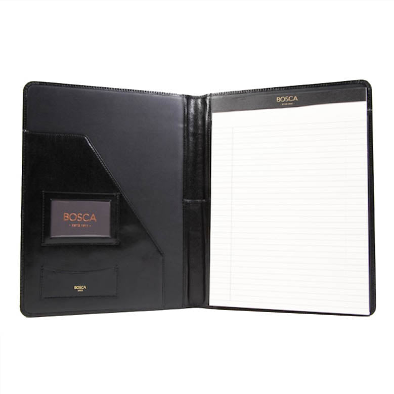 Bosca Old Leather Black Pad Portfolio