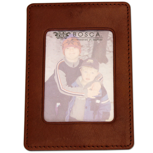 Bosca Magnetic Picture Frame Old Leather Cognac
