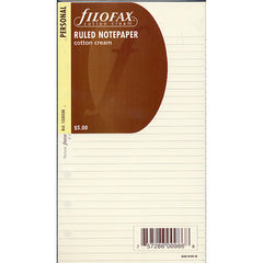 Filofax Cotton Cream Personal Ruled Notepaper Refill