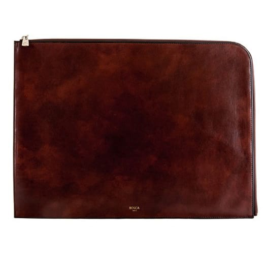 "Bosca Old Leather Dark Brown 16"" Envelope"