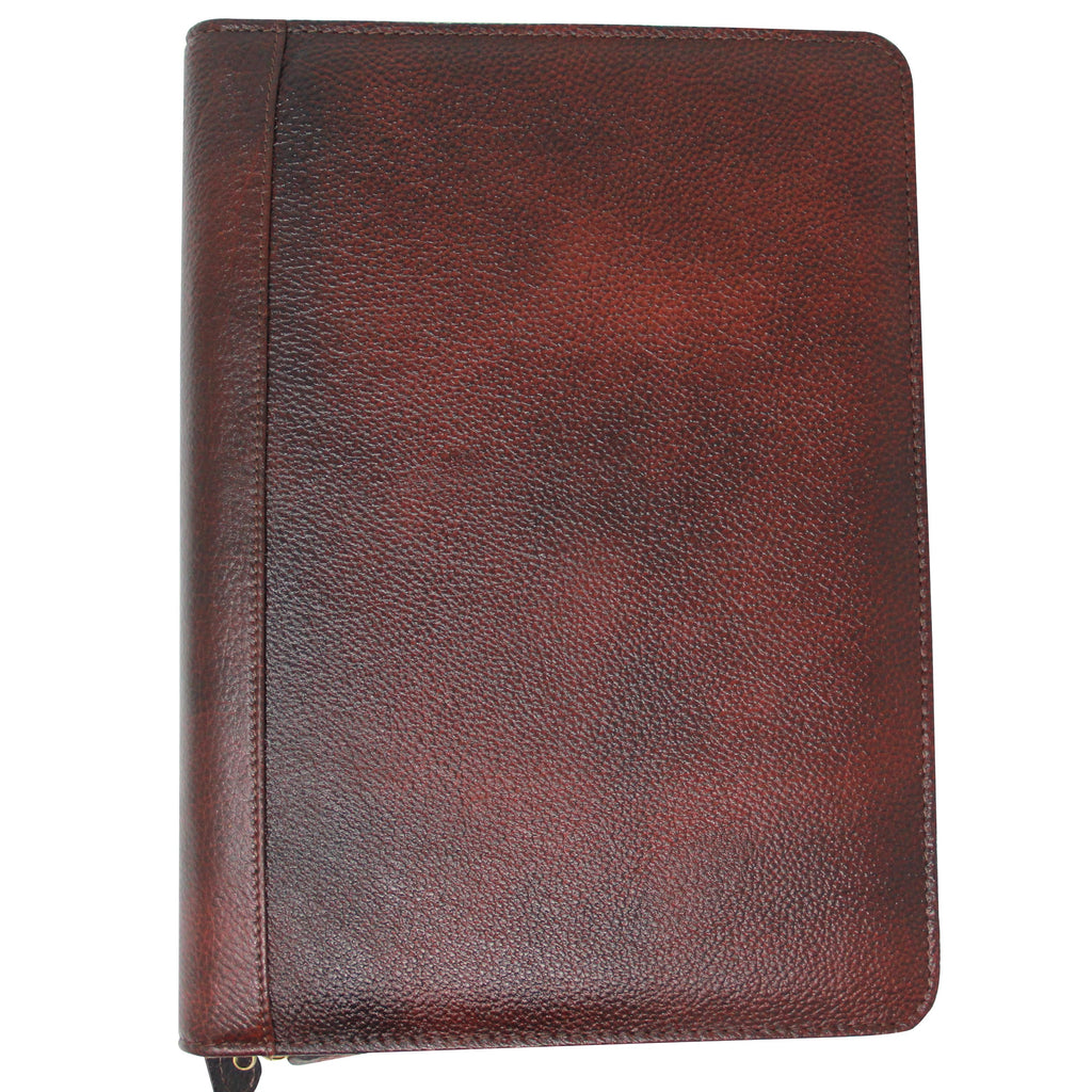 Yak Leather Premium Leather 24 Pen Case Brown-Pen Boutique Ltd