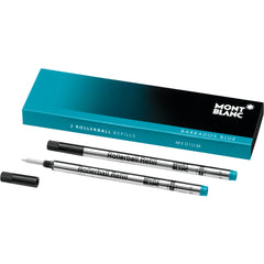 Montblanc Rollerball Refill - Barbados Blue - Medium - 2 Pack-Pen Boutique Ltd