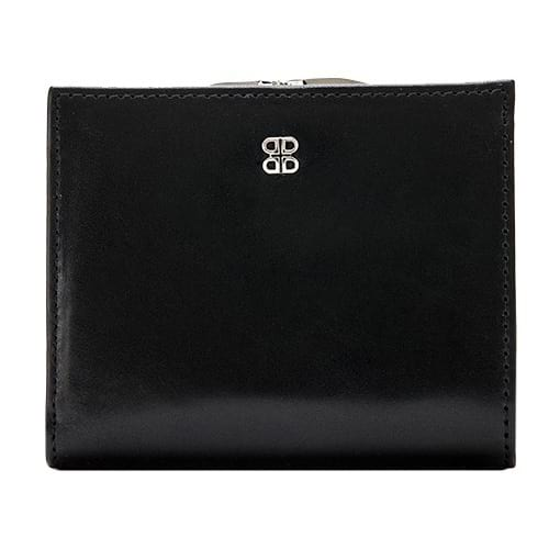 Bosca Old Leather Black Petite French Purse