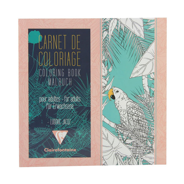 "Clairefontaine Birds Coloring Book 7 7/8""x7 7/8""-Pen Boutique Ltd"